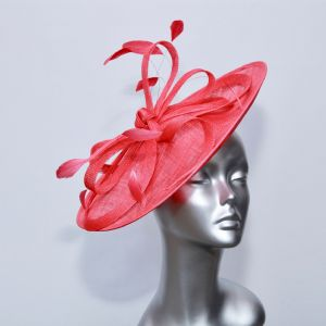 A simple raspberry disc ladies fascinator 16803/SD20